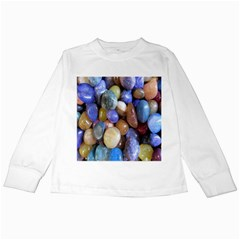 Rock Tumbler Used To Polish A Collection Of Small Colorful Pebbles Kids Long Sleeve T-Shirts