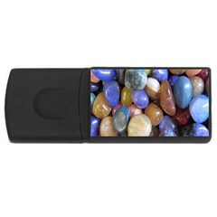 Rock Tumbler Used To Polish A Collection Of Small Colorful Pebbles USB Flash Drive Rectangular (4 GB)