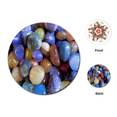 Rock Tumbler Used To Polish A Collection Of Small Colorful Pebbles Playing Cards (round)