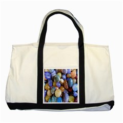 Rock Tumbler Used To Polish A Collection Of Small Colorful Pebbles Two Tone Tote Bag