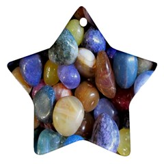 Rock Tumbler Used To Polish A Collection Of Small Colorful Pebbles Star Ornament (two Sides)