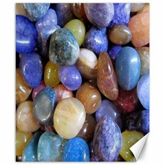 Rock Tumbler Used To Polish A Collection Of Small Colorful Pebbles Canvas 8  X 10