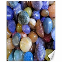 Rock Tumbler Used To Polish A Collection Of Small Colorful Pebbles Canvas 16  X 20