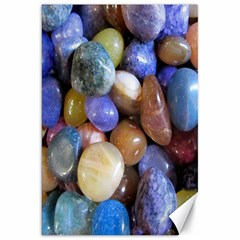 Rock Tumbler Used To Polish A Collection Of Small Colorful Pebbles Canvas 20  X 30