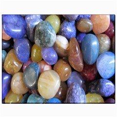 Rock Tumbler Used To Polish A Collection Of Small Colorful Pebbles Canvas 11  x 14