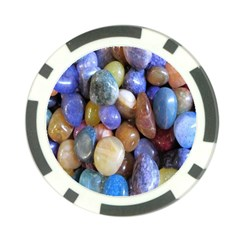 Rock Tumbler Used To Polish A Collection Of Small Colorful Pebbles Poker Chip Card Guard (10 Pack)