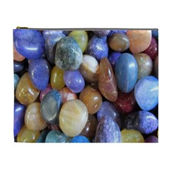 Rock Tumbler Used To Polish A Collection Of Small Colorful Pebbles Cosmetic Bag (xl)