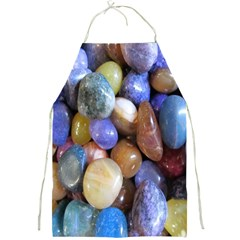 Rock Tumbler Used To Polish A Collection Of Small Colorful Pebbles Full Print Aprons