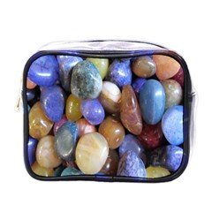 Rock Tumbler Used To Polish A Collection Of Small Colorful Pebbles Mini Toiletries Bags