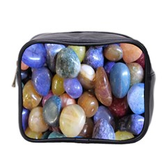 Rock Tumbler Used To Polish A Collection Of Small Colorful Pebbles Mini Toiletries Bag 2 Side