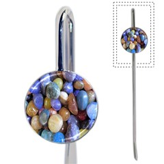 Rock Tumbler Used To Polish A Collection Of Small Colorful Pebbles Book Mark