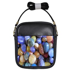 Rock Tumbler Used To Polish A Collection Of Small Colorful Pebbles Girls Sling Bags