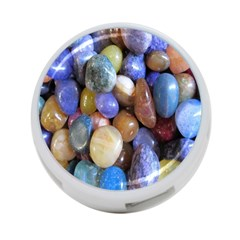 Rock Tumbler Used To Polish A Collection Of Small Colorful Pebbles 4 Port Usb Hub (two Sides)