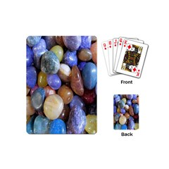 Rock Tumbler Used To Polish A Collection Of Small Colorful Pebbles Playing Cards (mini)