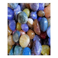 Rock Tumbler Used To Polish A Collection Of Small Colorful Pebbles Shower Curtain 60  X 72  (medium)