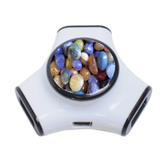 Rock Tumbler Used To Polish A Collection Of Small Colorful Pebbles 3 Port Usb Hub