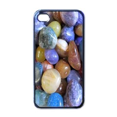 Rock Tumbler Used To Polish A Collection Of Small Colorful Pebbles Apple Iphone 4 Case (black)