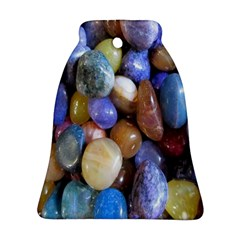 Rock Tumbler Used To Polish A Collection Of Small Colorful Pebbles Bell Ornament (two Sides)