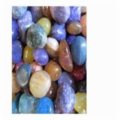 Rock Tumbler Used To Polish A Collection Of Small Colorful Pebbles Small Garden Flag (Two Sides)