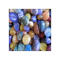Rock Tumbler Used To Polish A Collection Of Small Colorful Pebbles Acrylic Tangram Puzzle (4  x 4 )