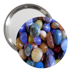 Rock Tumbler Used To Polish A Collection Of Small Colorful Pebbles 3  Handbag Mirrors