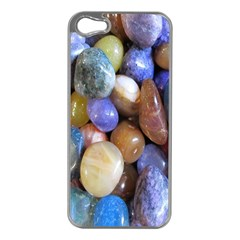 Rock Tumbler Used To Polish A Collection Of Small Colorful Pebbles Apple Iphone 5 Case (silver)