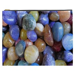 Rock Tumbler Used To Polish A Collection Of Small Colorful Pebbles Cosmetic Bag (XXXL)
