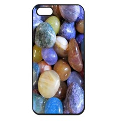 Rock Tumbler Used To Polish A Collection Of Small Colorful Pebbles Apple Iphone 5 Seamless Case (black)