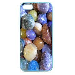 Rock Tumbler Used To Polish A Collection Of Small Colorful Pebbles Apple Seamless iPhone 5 Case (Color)