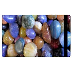 Rock Tumbler Used To Polish A Collection Of Small Colorful Pebbles Apple iPad 3/4 Flip Case