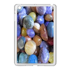 Rock Tumbler Used To Polish A Collection Of Small Colorful Pebbles Apple iPad Mini Case (White)