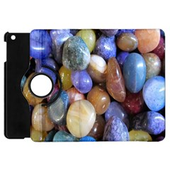 Rock Tumbler Used To Polish A Collection Of Small Colorful Pebbles Apple iPad Mini Flip 360 Case