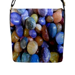 Rock Tumbler Used To Polish A Collection Of Small Colorful Pebbles Flap Messenger Bag (l)