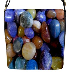 Rock Tumbler Used To Polish A Collection Of Small Colorful Pebbles Flap Messenger Bag (S)