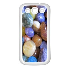 Rock Tumbler Used To Polish A Collection Of Small Colorful Pebbles Samsung Galaxy S3 Back Case (White)