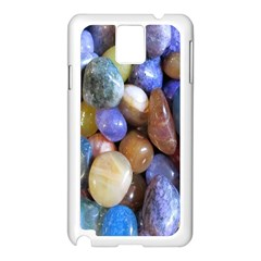 Rock Tumbler Used To Polish A Collection Of Small Colorful Pebbles Samsung Galaxy Note 3 N9005 Case (white)