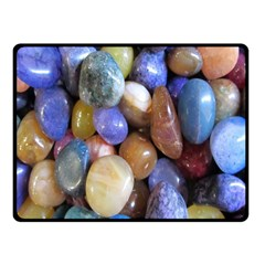 Rock Tumbler Used To Polish A Collection Of Small Colorful Pebbles Double Sided Fleece Blanket (Small)