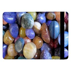 Rock Tumbler Used To Polish A Collection Of Small Colorful Pebbles Samsung Galaxy Tab Pro 12.2  Flip Case