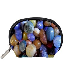 Rock Tumbler Used To Polish A Collection Of Small Colorful Pebbles Accessory Pouches (Small)