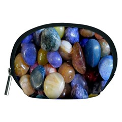 Rock Tumbler Used To Polish A Collection Of Small Colorful Pebbles Accessory Pouches (Medium)