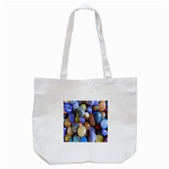 Rock Tumbler Used To Polish A Collection Of Small Colorful Pebbles Tote Bag (White)