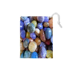 Rock Tumbler Used To Polish A Collection Of Small Colorful Pebbles Drawstring Pouches (Small)