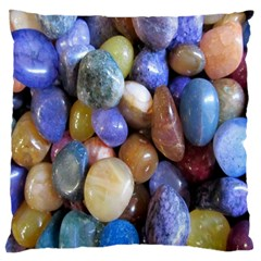 Rock Tumbler Used To Polish A Collection Of Small Colorful Pebbles Standard Flano Cushion Case (one Side)