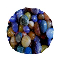 Rock Tumbler Used To Polish A Collection Of Small Colorful Pebbles Standard 15  Premium Flano Round Cushions