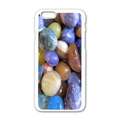 Rock Tumbler Used To Polish A Collection Of Small Colorful Pebbles Apple iPhone 6/6S White Enamel Case