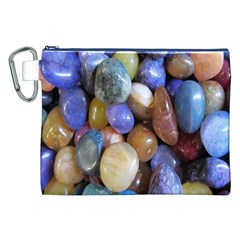 Rock Tumbler Used To Polish A Collection Of Small Colorful Pebbles Canvas Cosmetic Bag (XXL)
