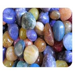 Rock Tumbler Used To Polish A Collection Of Small Colorful Pebbles Double Sided Flano Blanket (Small)