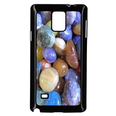 Rock Tumbler Used To Polish A Collection Of Small Colorful Pebbles Samsung Galaxy Note 4 Case (black)