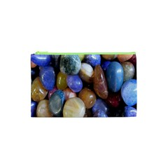 Rock Tumbler Used To Polish A Collection Of Small Colorful Pebbles Cosmetic Bag (XS)