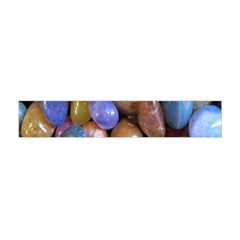 Rock Tumbler Used To Polish A Collection Of Small Colorful Pebbles Flano Scarf (Mini)
